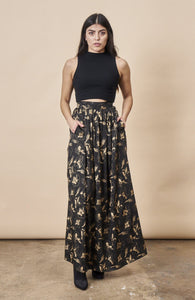 Hibiscus Flower Maxi Skirt