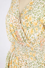 Light and Yellow Botanical Beauty Dress