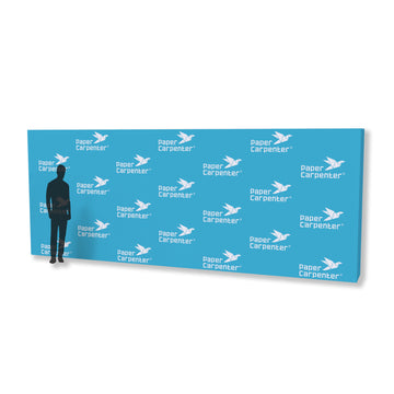 8ft x 20ft PVC Backdrop with PaperConnect Structure