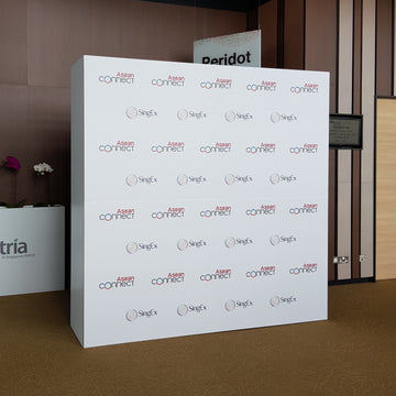 8ft x 8ft PVC Backdrop with PaperConnect Structure