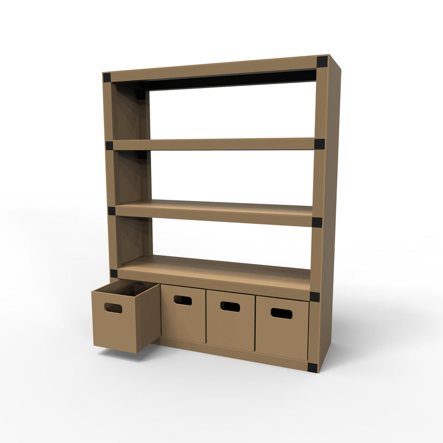 Bookshelf with Boxes