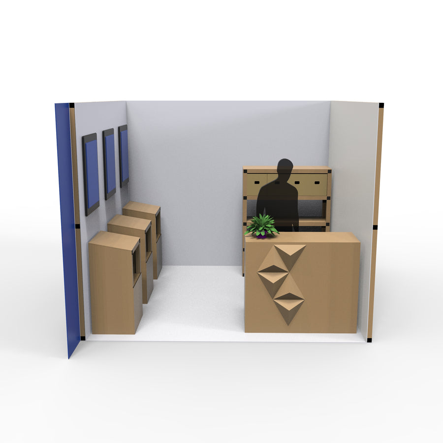 3m x 3m Booth Space Design 1