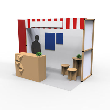 2m x 3m Booth Space Design 1