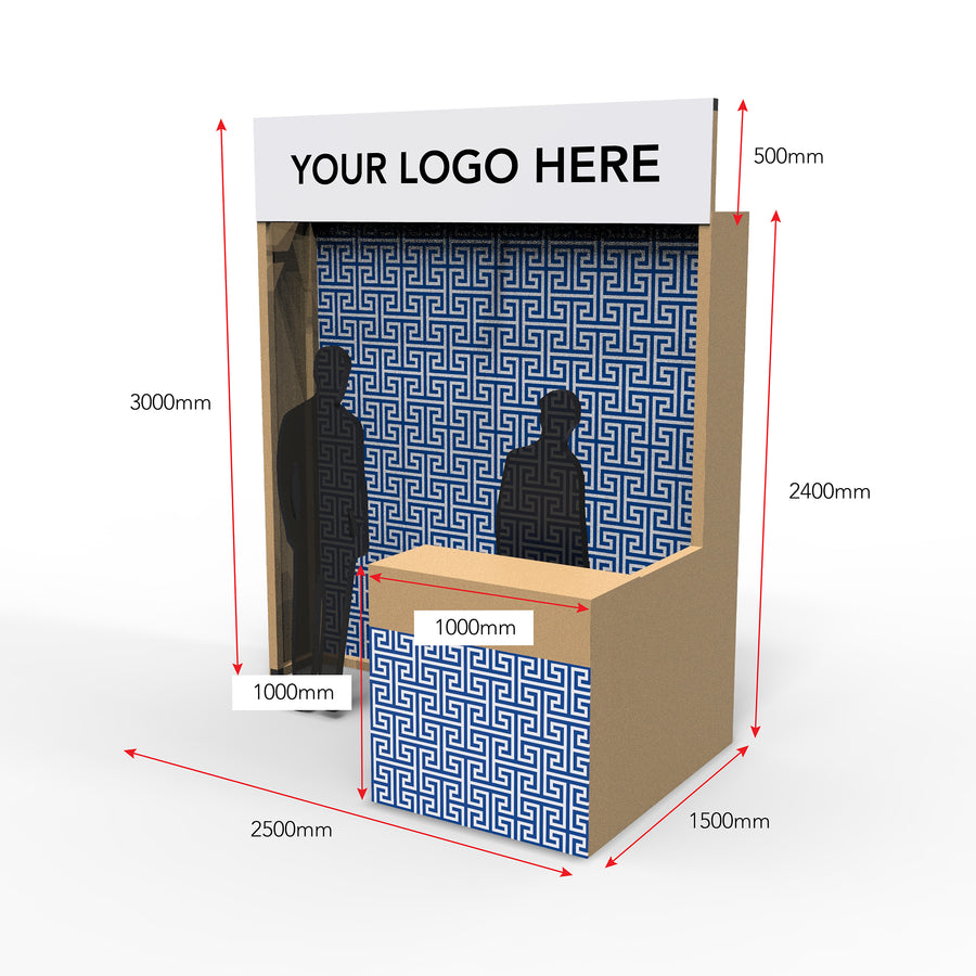 2.5m x 1.5m Exhibition Booth