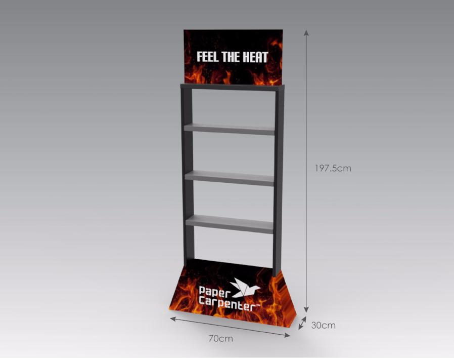 Floor Display with Shelves