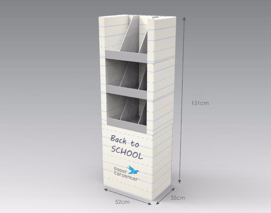 3-Tier Cardboard Floor Display