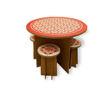 Table with Graphic Prints