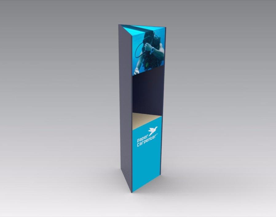 Triangular Totem Floor Display