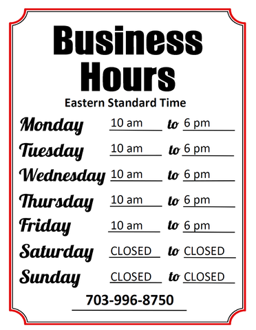 All American Martial Arts Supply Business Hours