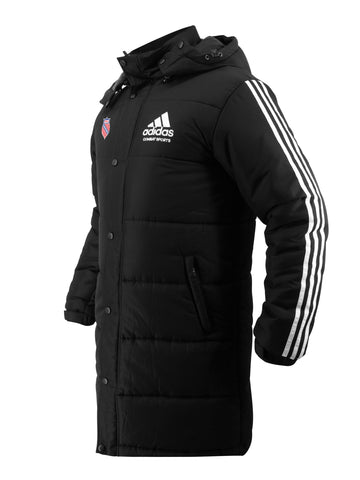 AAU Embroidered adidas Combat Sports Winter Long Padded Parka Jacket