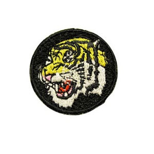 Tiger Head Circle Patch