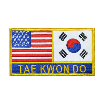 USA & Korean Tae Kwon Do Flag Patch