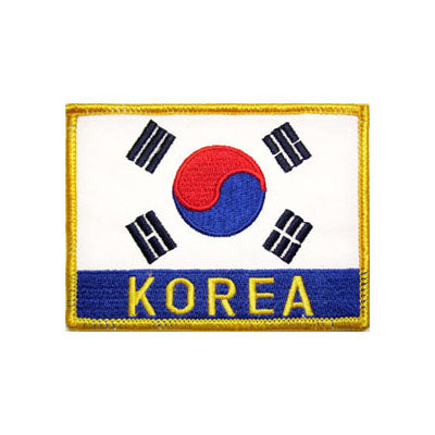 Korean Flag Patch w/ Lettering