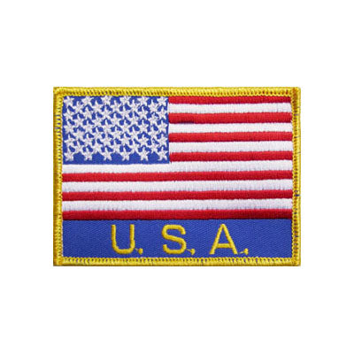 USA Flag Patch w/Lettering