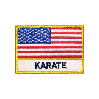 Karate USA Flag Patch