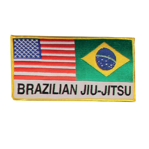 Brazilian Jiu-Jitsu, Brazil & USA Flag Patch