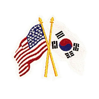 USA & Korean Flag Emblems Patch