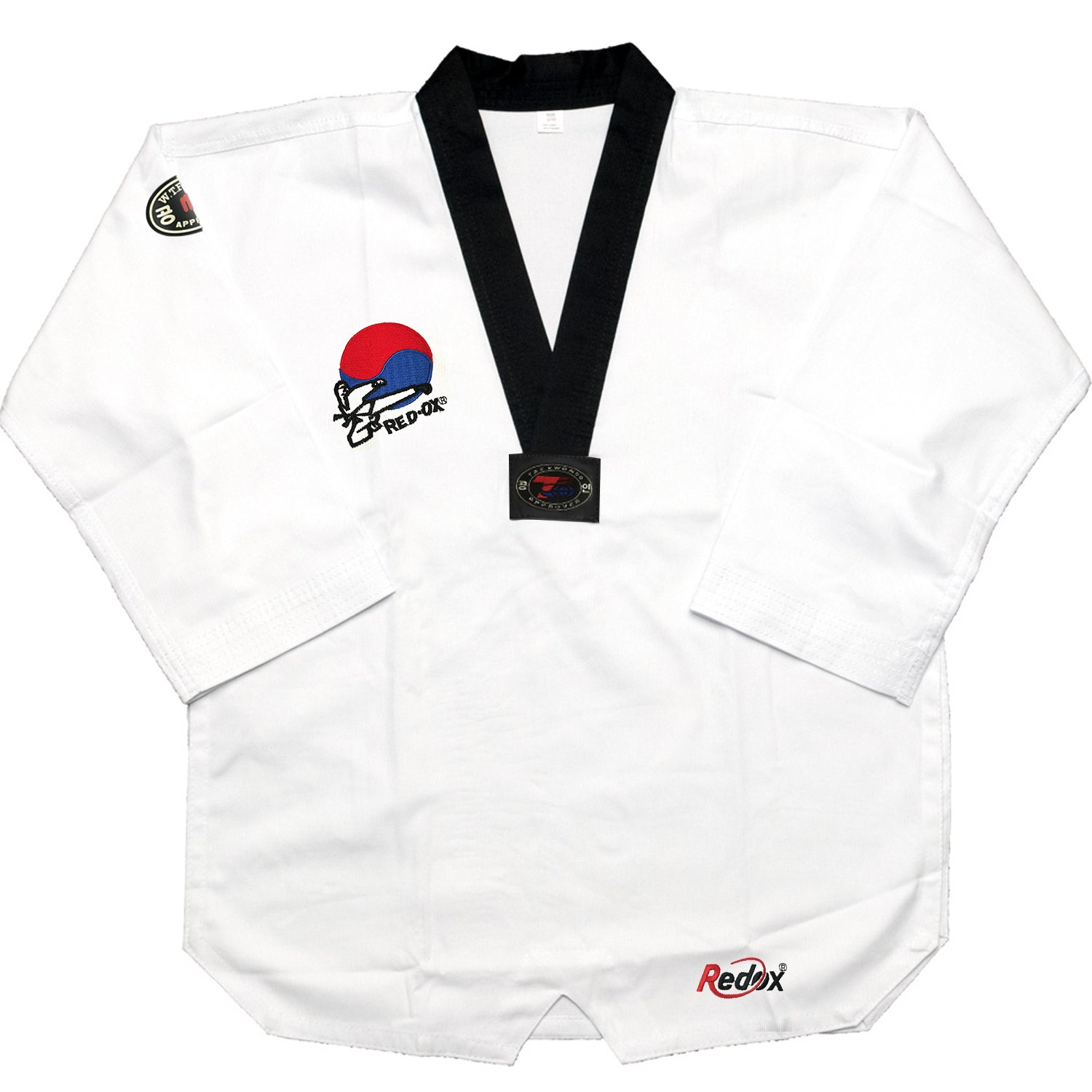 AAMA Redox Pro Black V-Neck Taekwondo Uniform