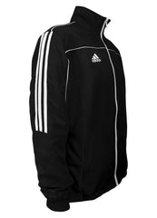 adidas Black with White Stripes Windbreaker Style Team Jacket Side View