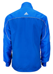 adidas Blue with White Stripes Windbreaker Style Team Jacket Back View