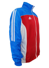 adidas Red White Blue Windbreaker Style Team Jacket Side View