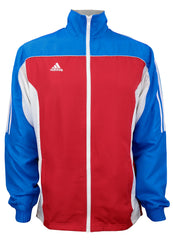 adidas Red White Blue Windbreaker Style Team Jacket Front View
