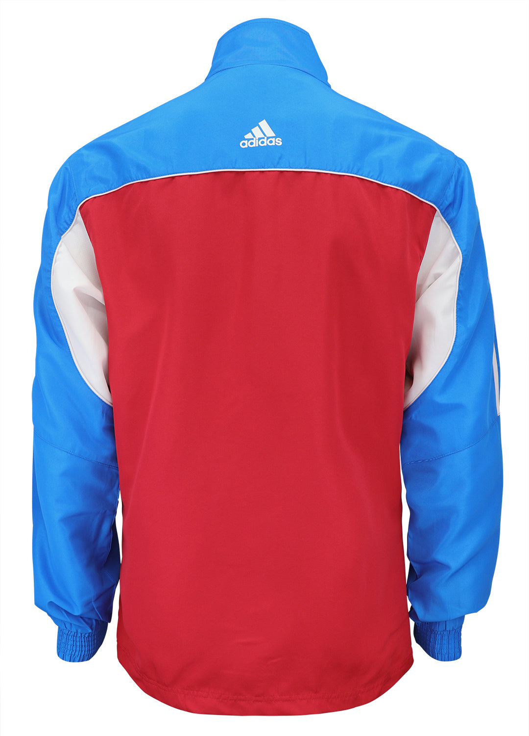 adidas Red White Blue Windbreaker Style Team Jacket Back View