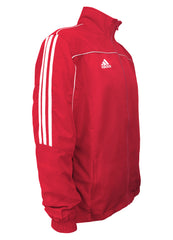 adidas Red with White Stripes Windbreaker Style Team Jacket Side View