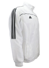 adidas White with Black Stripes Windbreaker Style Team Jacket Side View