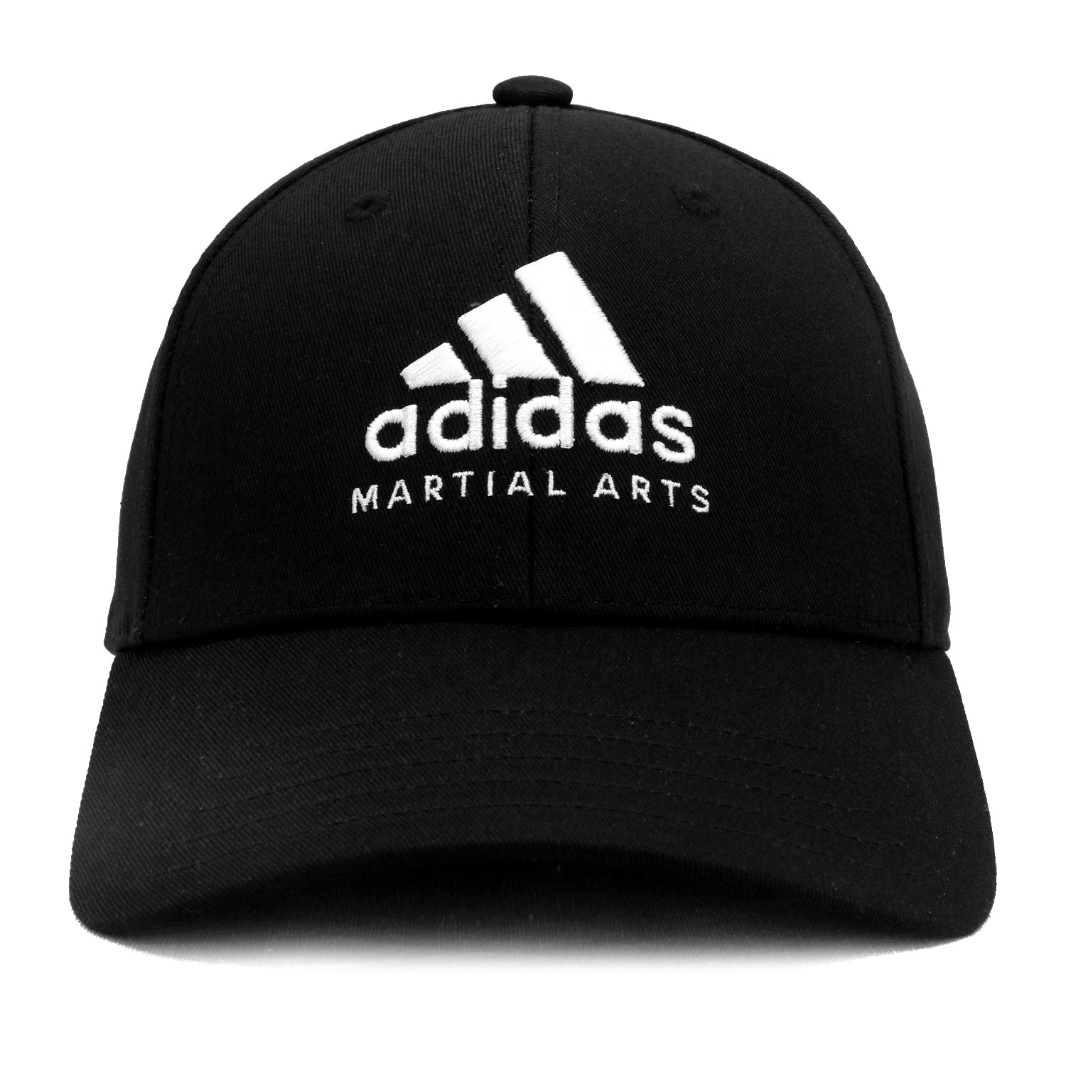 adidas Martial Arts Embroidered Structured Precurved Cap - Black