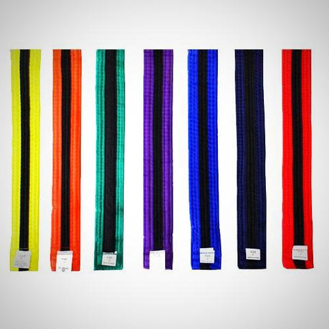 Color Belt with Black Stripe