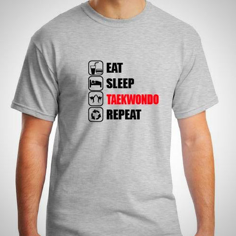 EAT/ SLEEP/ TAEKWONDO / REPEAT  T- SHIRT
