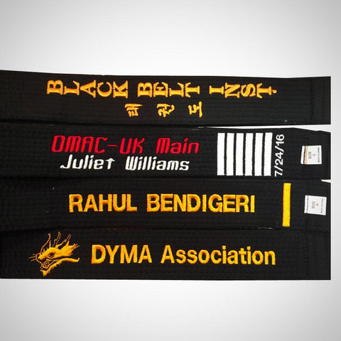 Embroidered Black Belt