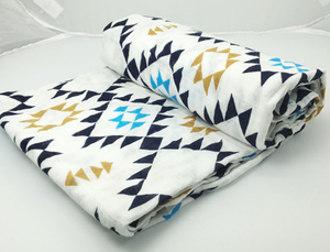 Perfect Life of us  Aztec Blue Print Swaddle