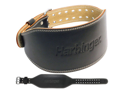 Harbinger Mens 6 inch Padded Leather Lifting Belt
