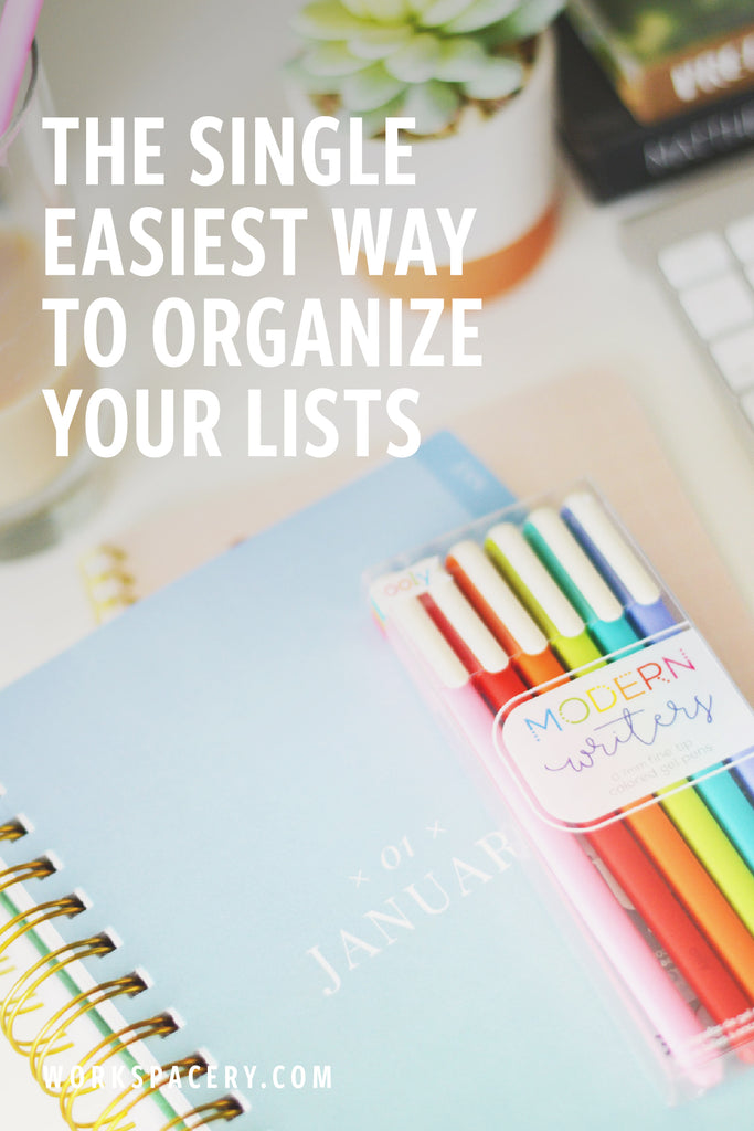 The Single Easiest Way to Organize Your Lists