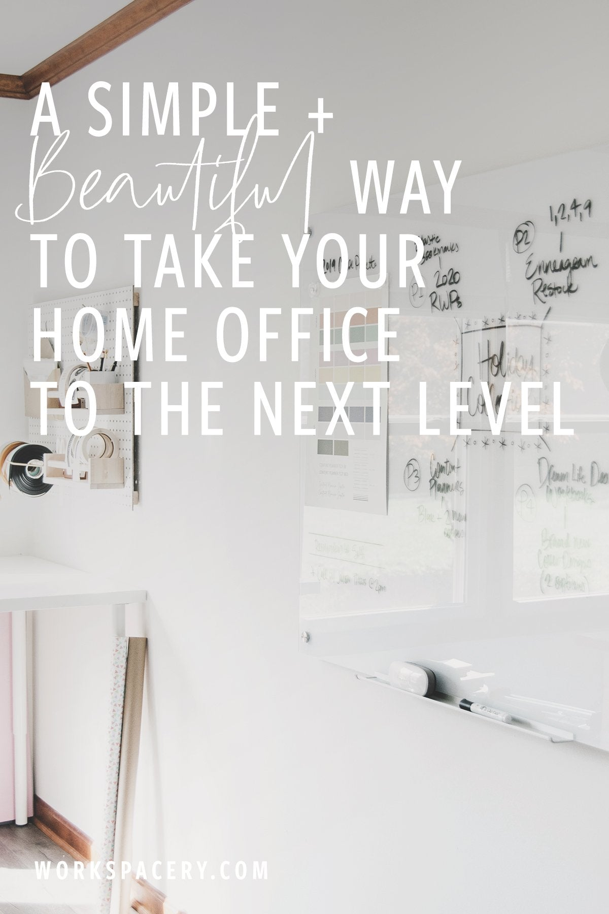 A Simple and Beautiful Way to Take Your Home Office to the Next Level