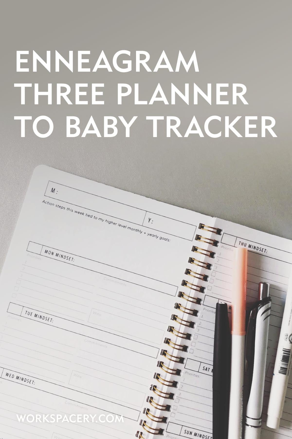 Enneagram Three Planner to Baby Tracker