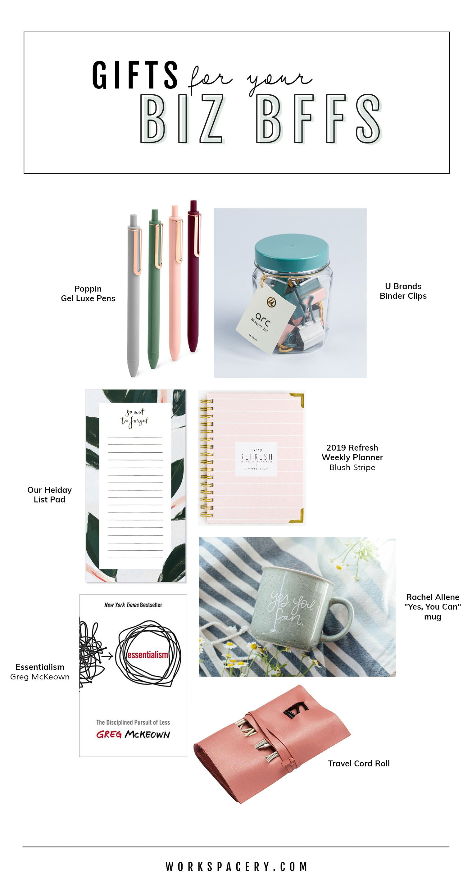 Workspacery Gift Guide for Your Biz BFFs