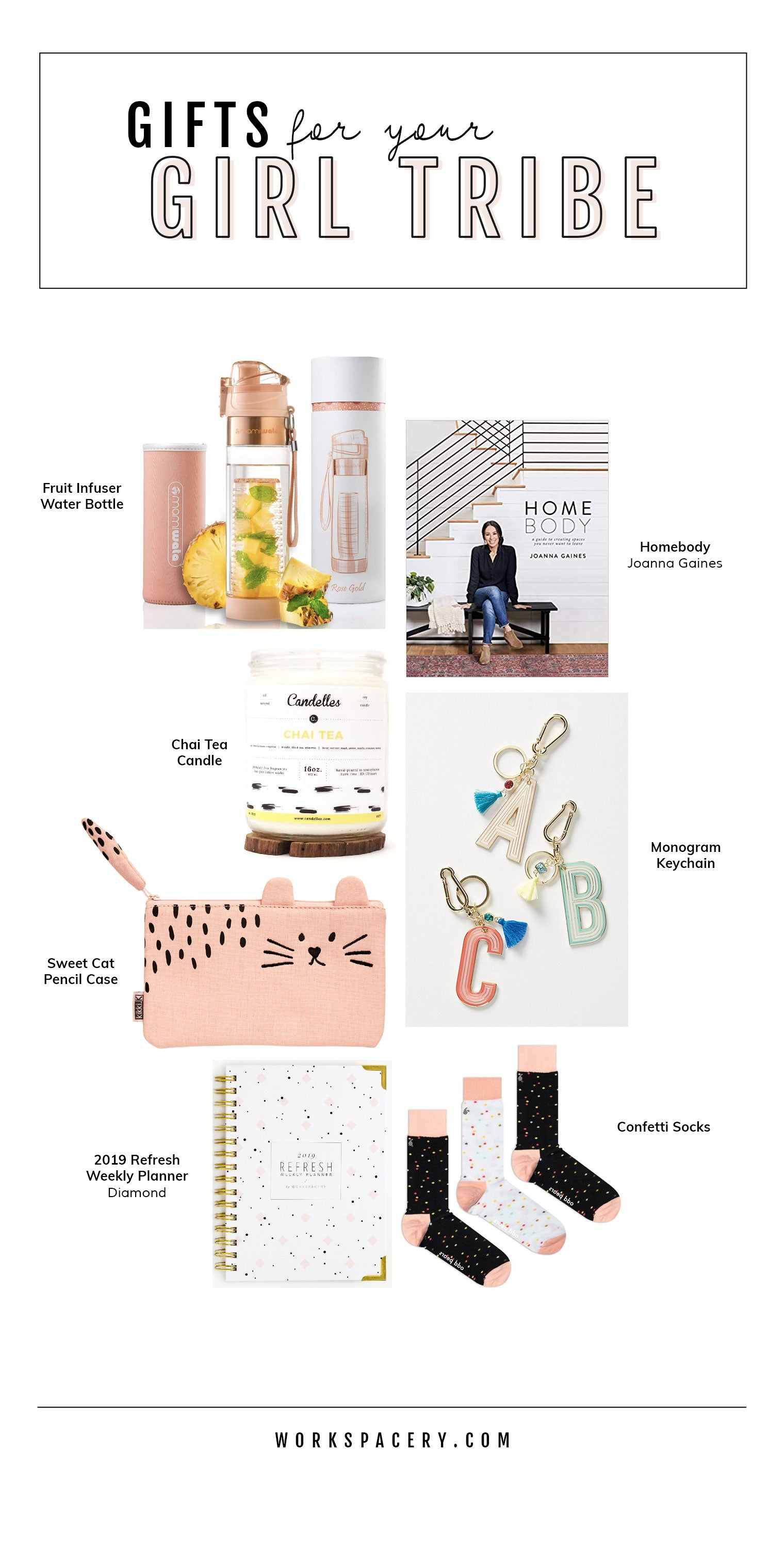 Workspacery Gift Guide for Your Girl Tribe