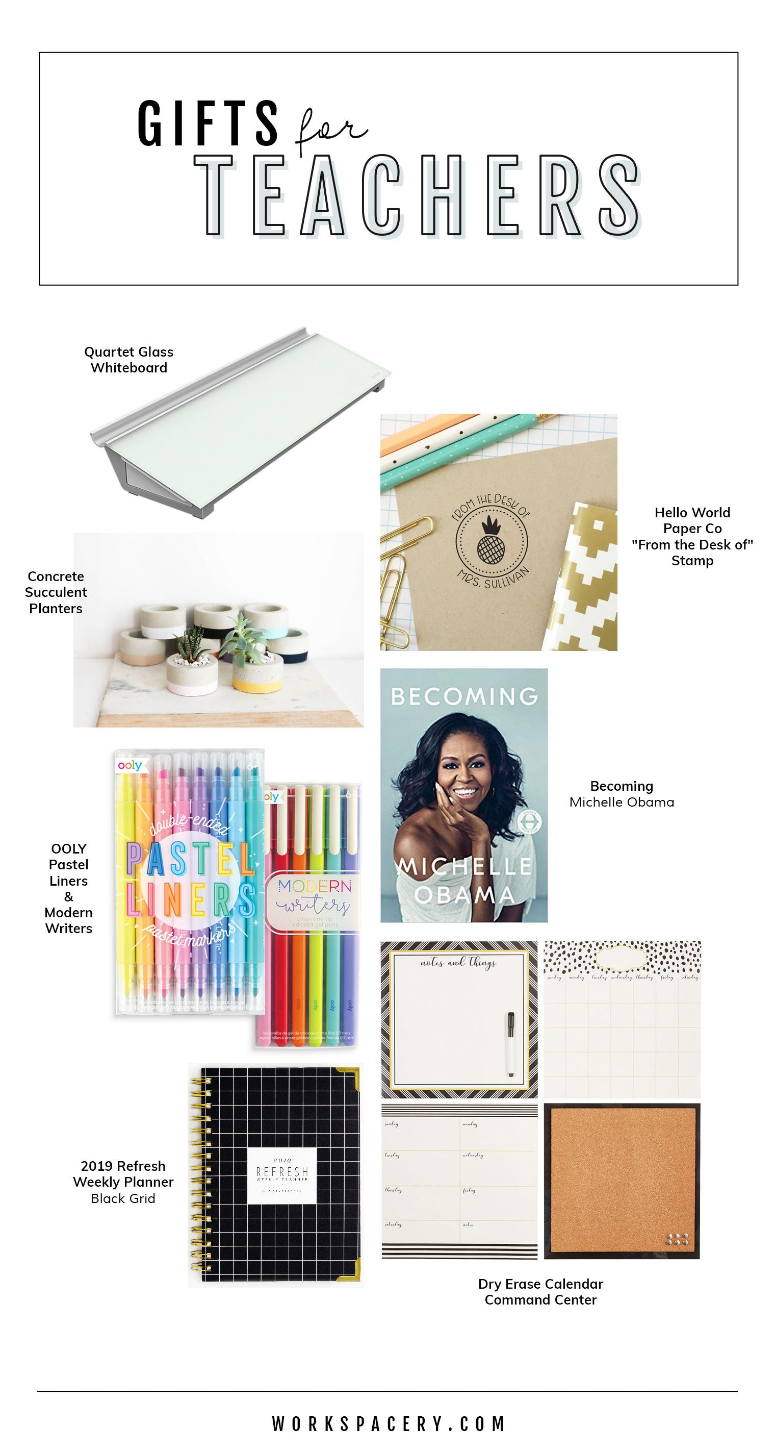 Workspacery Gift Guide for Teachers