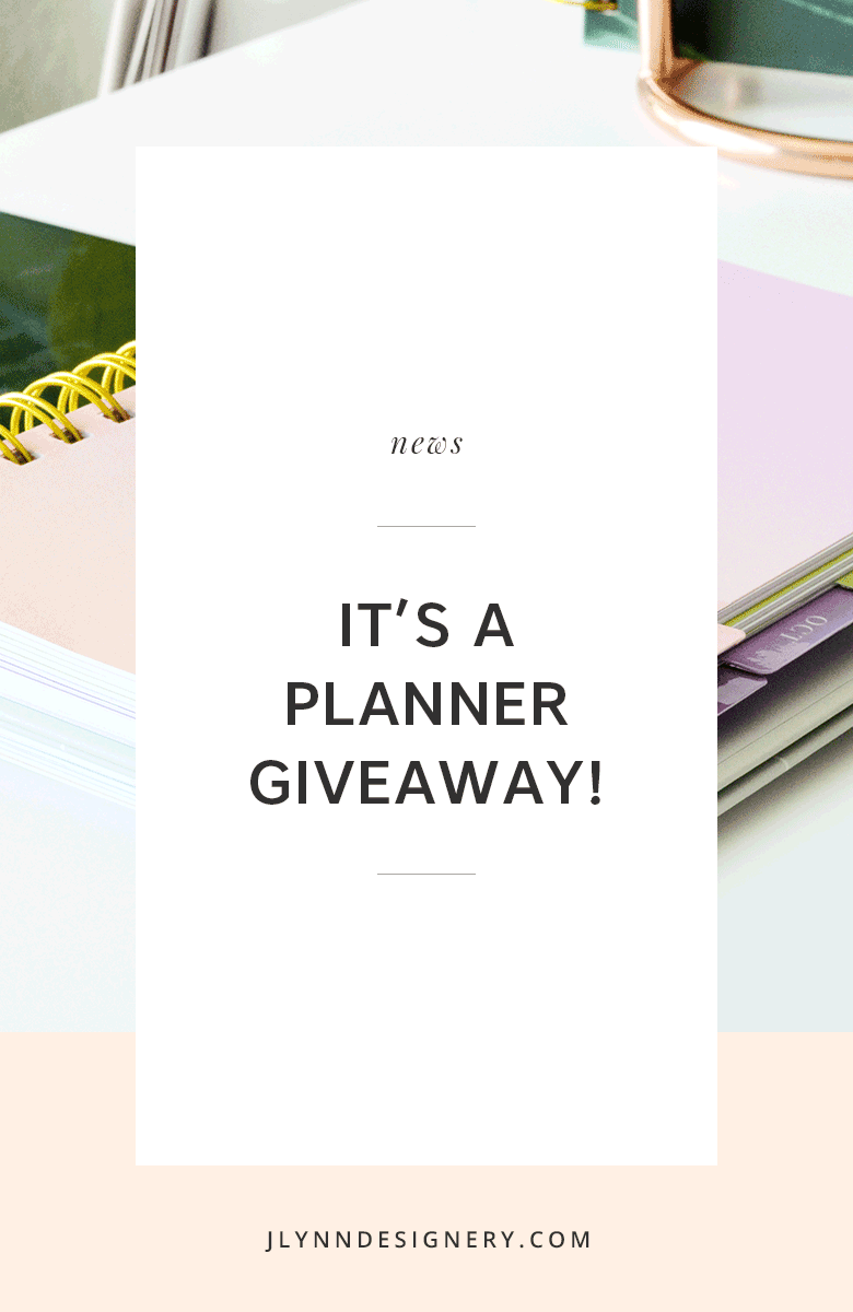 2018 Planner Giveaway