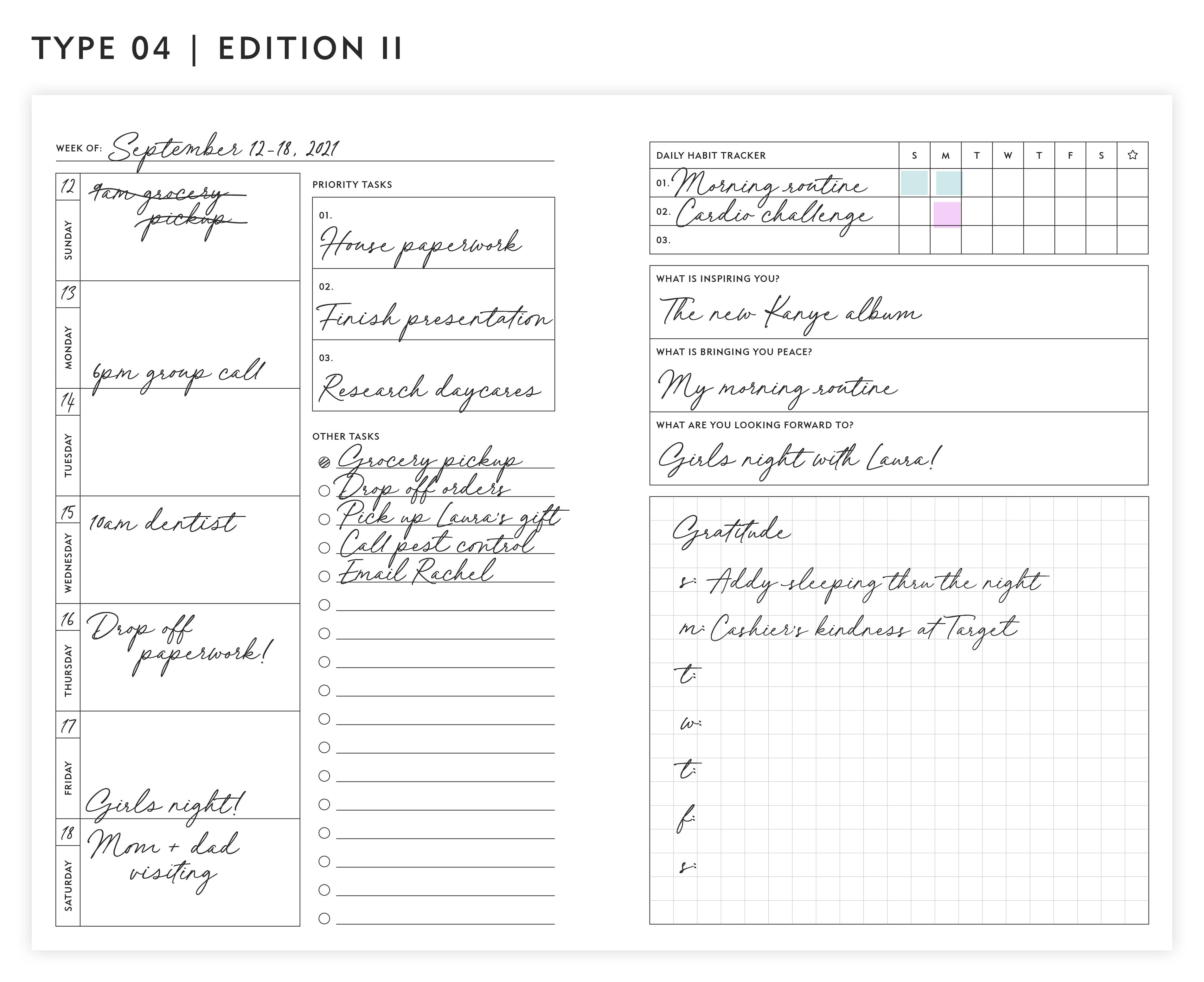 Guided Enneagram Planner Type 04   Edition II