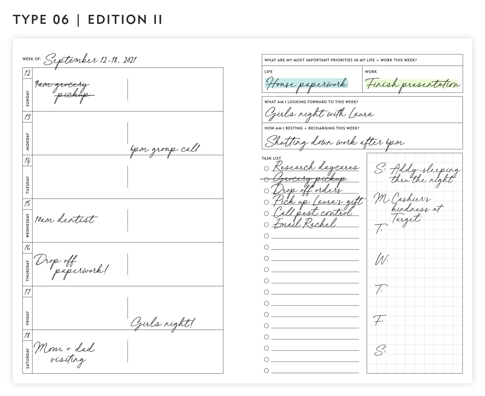 Guided Enneagram Planner Type 06   Edition II