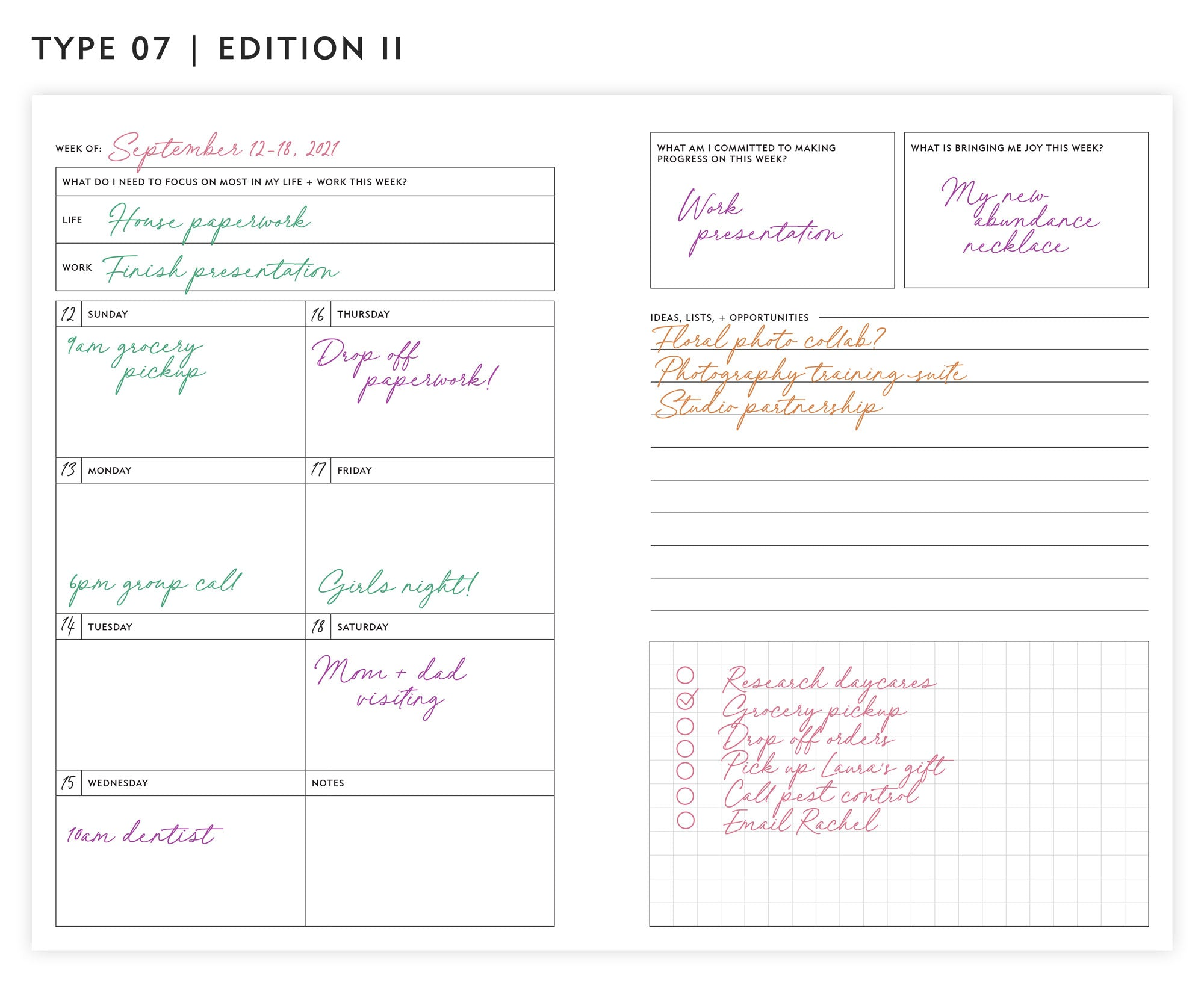 Guided Enneagram Planner Type 07   Edition II