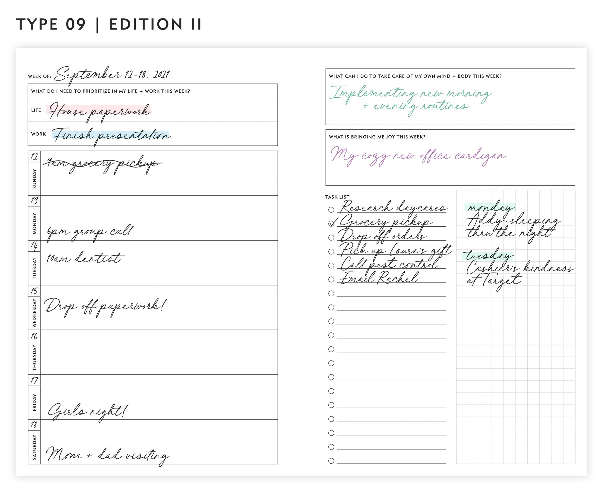 Guided Enneagram Planner Type 09   Edition II