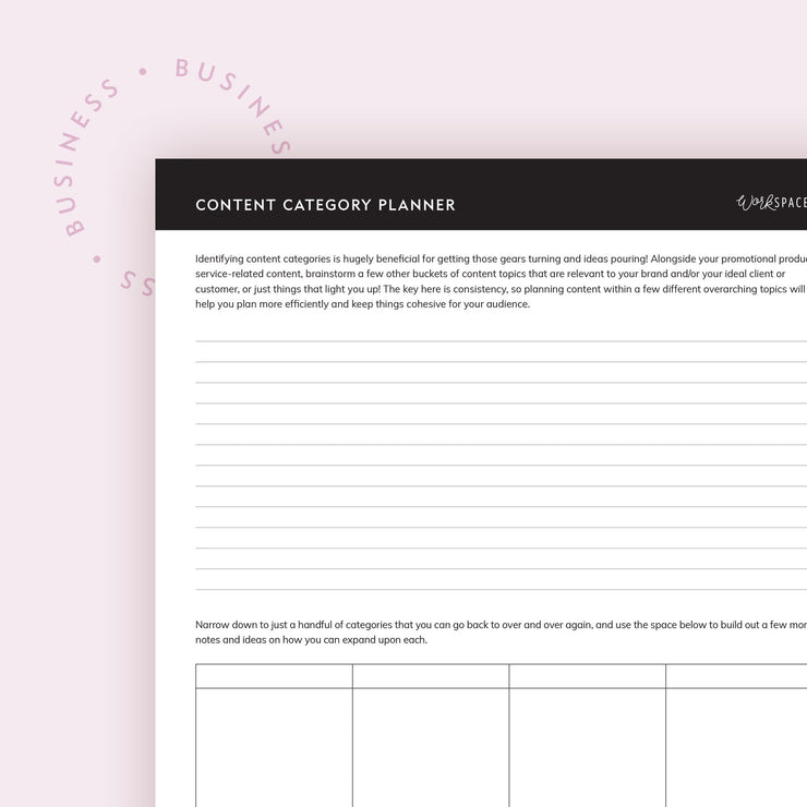 Content Category Planner