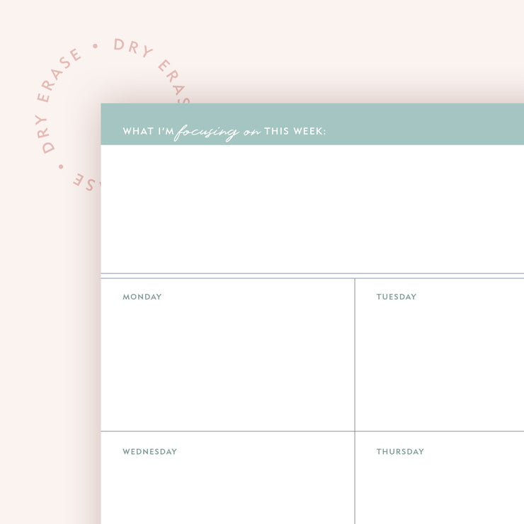 Dry Erase 8x10 Weekly Planner