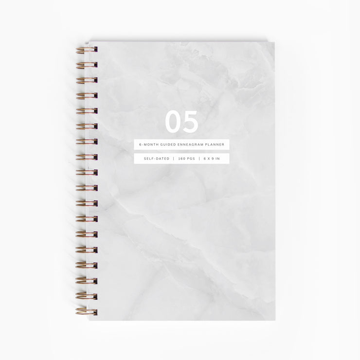 "<span style=""color: #b38d5b;"">PRE-ORDER ONLY:</span> Guided Enneagram Planner Type 05 [Edition II]"