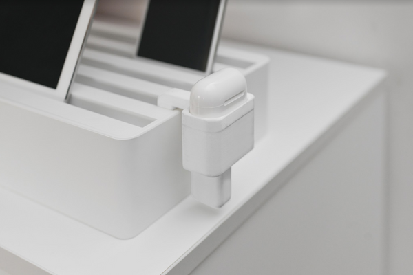 White Airpod Mount